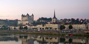 Saumur from across the Loire