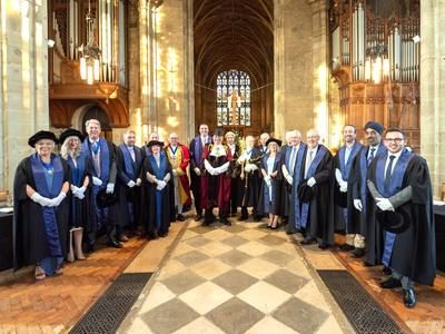 The Mayor and Councillors in St Mary's church