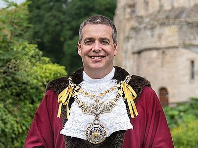 The Mayor in his robes