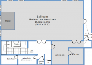 Floorplan of Ballromm and Anteroom