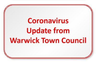 Banner announcing Coronavirus updates from the Council